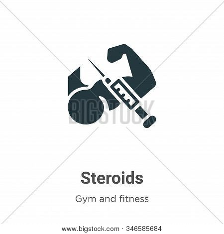 Steroids icon isolated on white background from gym and fitness collection. Steroids icon trendy and