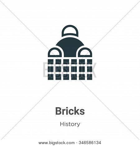Bricks icon isolated on white background from history collection. Bricks icon trendy and modern Bric