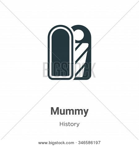 Mummy icon isolated on white background from history collection. Mummy icon trendy and modern Mummy