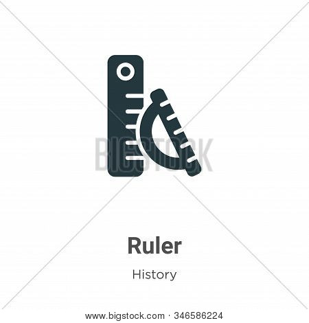 Ruler icon isolated on white background from history collection. Ruler icon trendy and modern Ruler