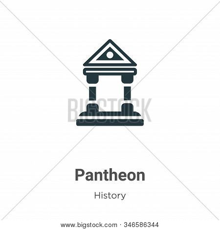 Pantheon icon isolated on white background from history collection. Pantheon icon trendy and modern