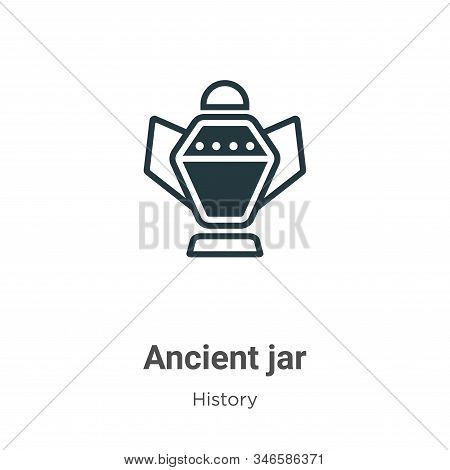 Ancient jar icon isolated on white background from history collection. Ancient jar icon trendy and m