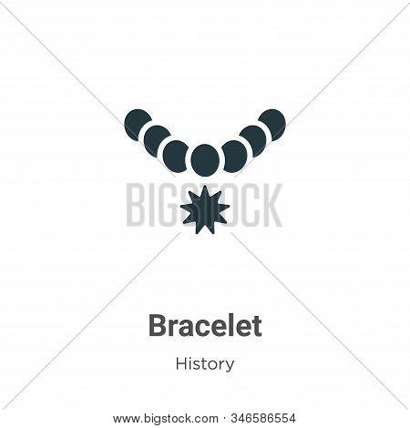 Bracelet Glyph Icon Vector On White Background. Flat Vector Bracelet Icon Symbol Sign From Modern Hi