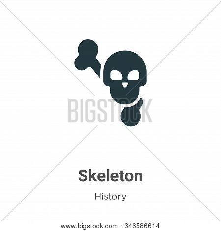 Skeleton icon isolated on white background from history collection. Skeleton icon trendy and modern