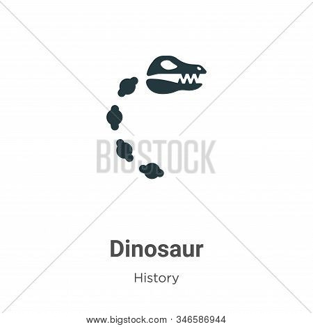 Dinosaur icon isolated on white background from history collection. Dinosaur icon trendy and modern