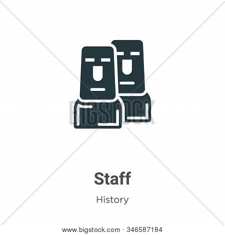 Staff icon isolated on white background from history collection. Staff icon trendy and modern Staff