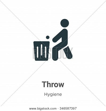Throw Glyph Icon Vector On White Background. Flat Vector Throw Icon Symbol Sign From Modern Hygiene