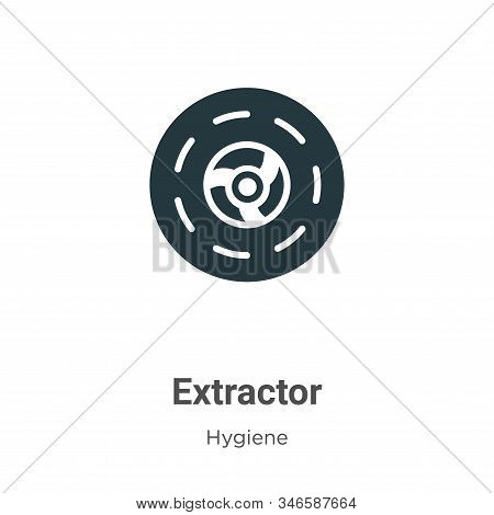 Extractor icon isolated on white background from hygiene collection. Extractor icon trendy and moder