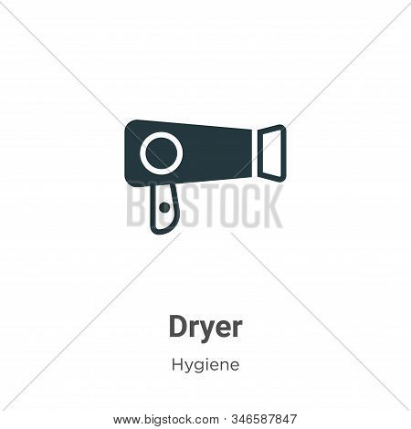 Dryer icon isolated on white background from hygiene collection. Dryer icon trendy and modern Dryer