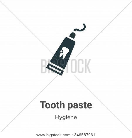 Tooth paste icon isolated on white background from hygiene collection. Tooth paste icon trendy and m