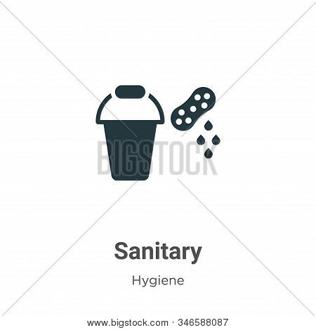 Sanitary Glyph Icon Vector On White Background. Flat Vector Sanitary Icon Symbol Sign From Modern Hy