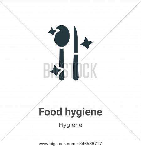 Food hygiene icon isolated on white background from hygiene collection. Food hygiene icon trendy and