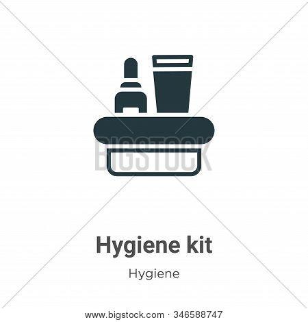 Hygiene kit icon isolated on white background from hygiene collection. Hygiene kit icon trendy and m