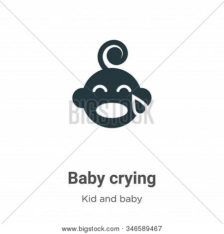 Baby crying icon isolated on white background from kid and baby collection. Baby crying icon trendy