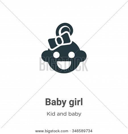 Baby girl icon isolated on white background from kid and baby collection. Baby girl icon trendy and