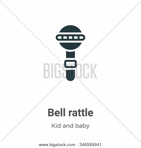 Bell Rattle Glyph Icon Vector On White Background. Flat Vector Bell Rattle Icon Symbol Sign From Mod