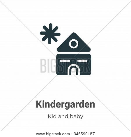Kindergarden icon isolated on white background from kid and baby collection. Kindergarden icon trend
