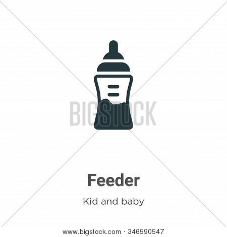 Feeder icon isolated on white background from kid and baby collection. Feeder icon trendy and modern
