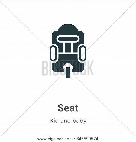 Seat icon isolated on white background from kid and baby collection. Seat icon trendy and modern Sea