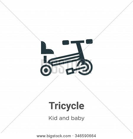 Tricycle icon isolated on white background from kid and baby collection. Tricycle icon trendy and mo