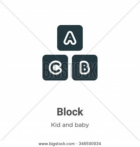 Block icon isolated on white background from kids and baby collection. Block icon trendy and modern
