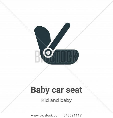 Baby car seat icon isolated on white background from kids and baby collection. Baby car seat icon tr