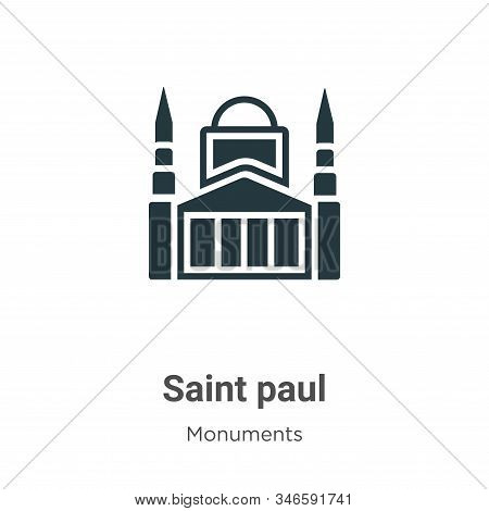Saint paul icon isolated on white background from monuments collection. Saint paul icon trendy and m