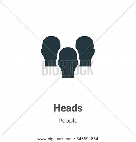 Heads icon isolated on white background from people collection. Heads icon trendy and modern Heads s