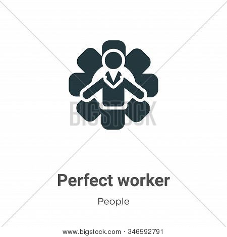Perfect worker icon isolated on white background from people collection. Perfect worker icon trendy