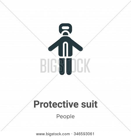 Protective suit icon isolated on white background from people collection. Protective suit icon trend