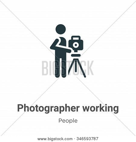 Photographer working icon isolated on white background from people collection. Photographer working