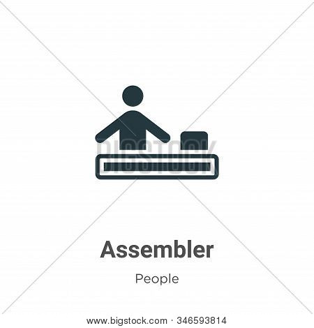 Assembler icon isolated on white background from people collection. Assembler icon trendy and modern