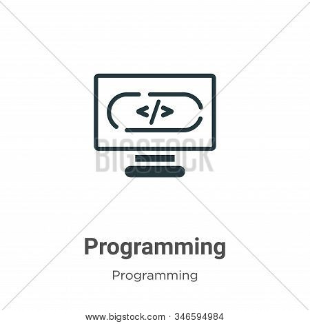 Programming icon isolated on white background from programming collection. Programming icon trendy a