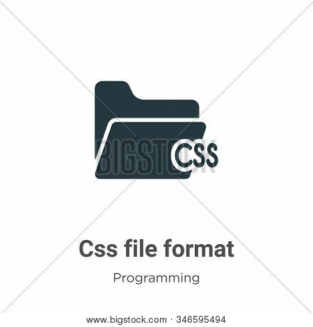 Css File Format Glyph Icon Vector On White Background. Flat Vector Css File Format Icon Symbol Sign