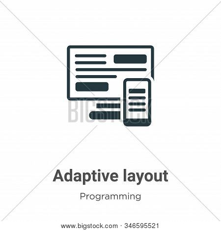 Adaptive Layout Glyph Icon Vector On White Background. Flat Vector Adaptive Layout Icon Symbol Sign