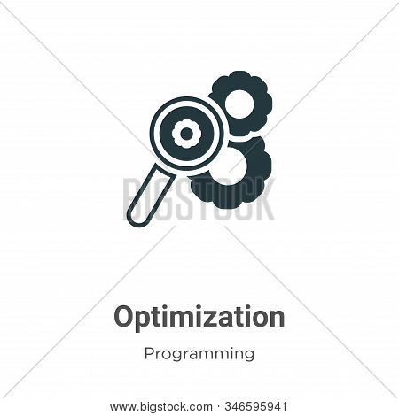 Optimization icon isolated on white background from programming collection. Optimization icon trendy