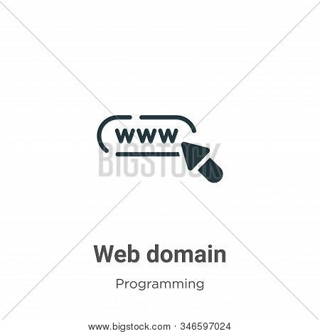 Web domain icon isolated on white background from programming collection. Web domain icon trendy and