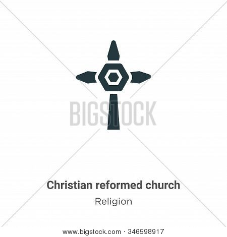 Christian reformed church icon isolated on white background from religion collection. Christian refo