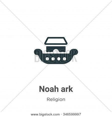 Noah Ark Glyph Icon Vector On White Background. Flat Vector Noah Ark Icon Symbol Sign From Modern Re