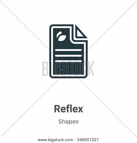 Reflex Glyph Icon Vector On White Background. Flat Vector Reflex Icon Symbol Sign From Modern Shapes