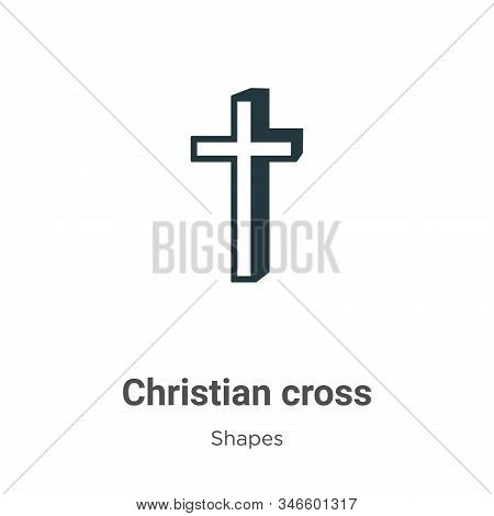 Christian cross icon isolated on white background from shapes and symbols collection. Christian cros