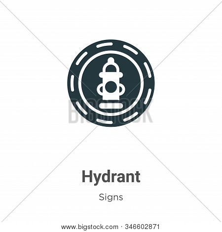 Hydrant icon isolated on white background from signs collection. Hydrant icon trendy and modern Hydr