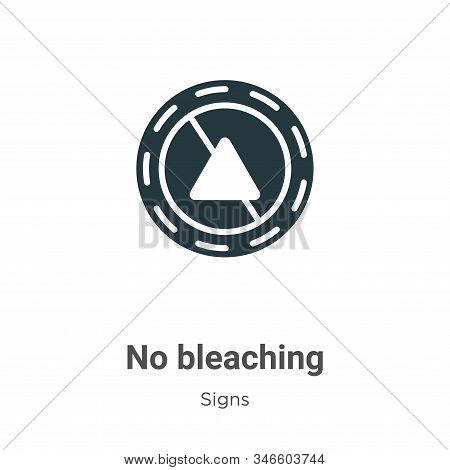No bleaching icon isolated on white background from signs collection. No bleaching icon trendy and m