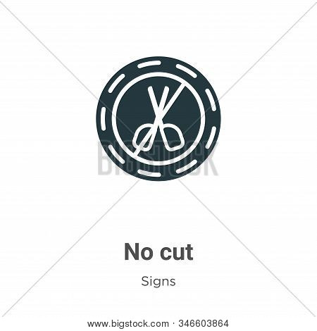 No cut icon isolated on white background from signs collection. No cut icon trendy and modern No cut