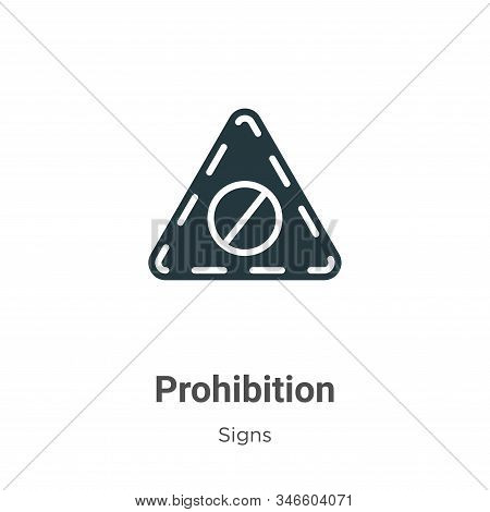 Prohibition icon isolated on white background from signs collection. Prohibition icon trendy and mod