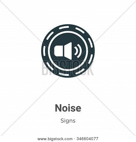 Noise icon isolated on white background from signs collection. Noise icon trendy and modern Noise sy
