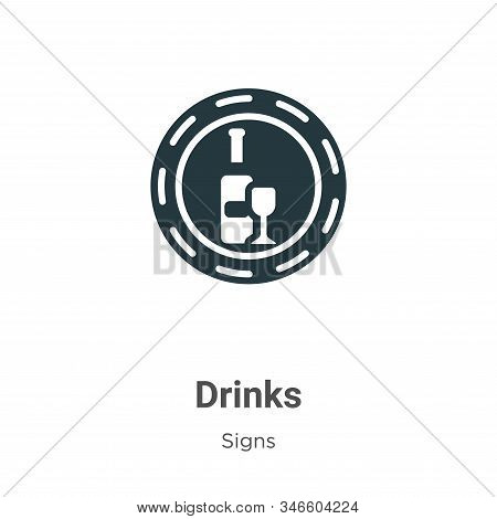 Drinks icon isolated on white background from signs collection. Drinks icon trendy and modern Drinks