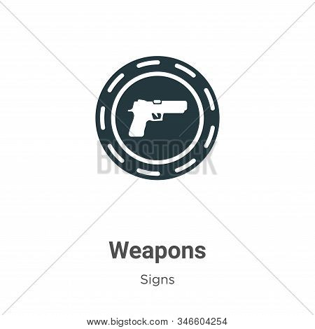 Weapons icon isolated on white background from signs collection. Weapons icon trendy and modern Weap