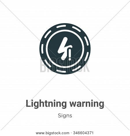 Lightning warning icon isolated on white background from signs collection. Lightning warning icon tr