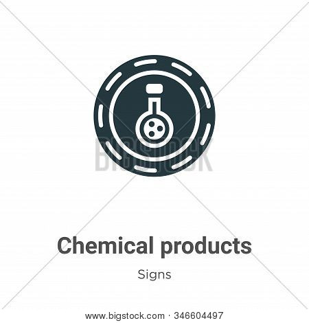 Chemical products icon isolated on white background from signs collection. Chemical products icon tr